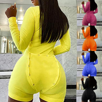 35# Women's Bodysuit Button-down Functional Oversized Playsuit Buttoned Flap Sexy Nightwear Jumpsuit Women боди женское 1