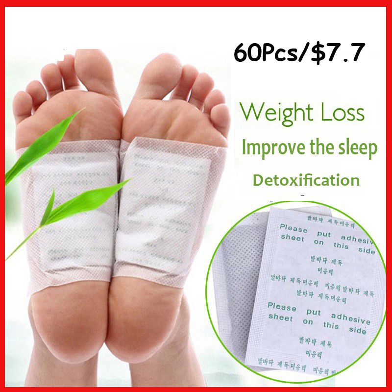 Drop shipping Kinoki Detox Foot Patch Bamboo Pads Patches With Adhersive Foot Care Improve Sleep  (30 patches+30 pcs Adhersives)