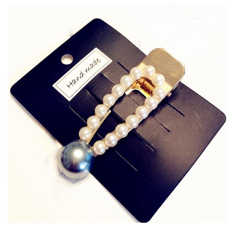 Купить с кэшбэком Crystal Shiny Rhinestones Hairpins  Metal Styling Accessories Imitation Pearl Beads hair Clips For Women Snap Barrette Stick