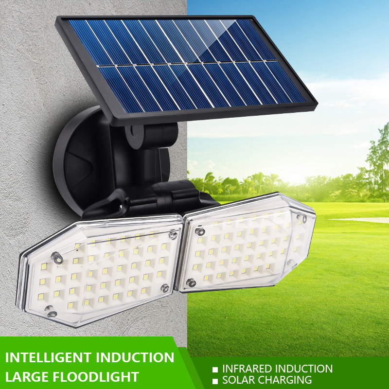 LED Solar Wall Lights Outddor Waterproof Garden Lighting With PIR Motion Sensor Wall Light Solar Power Lamp For Street Garden