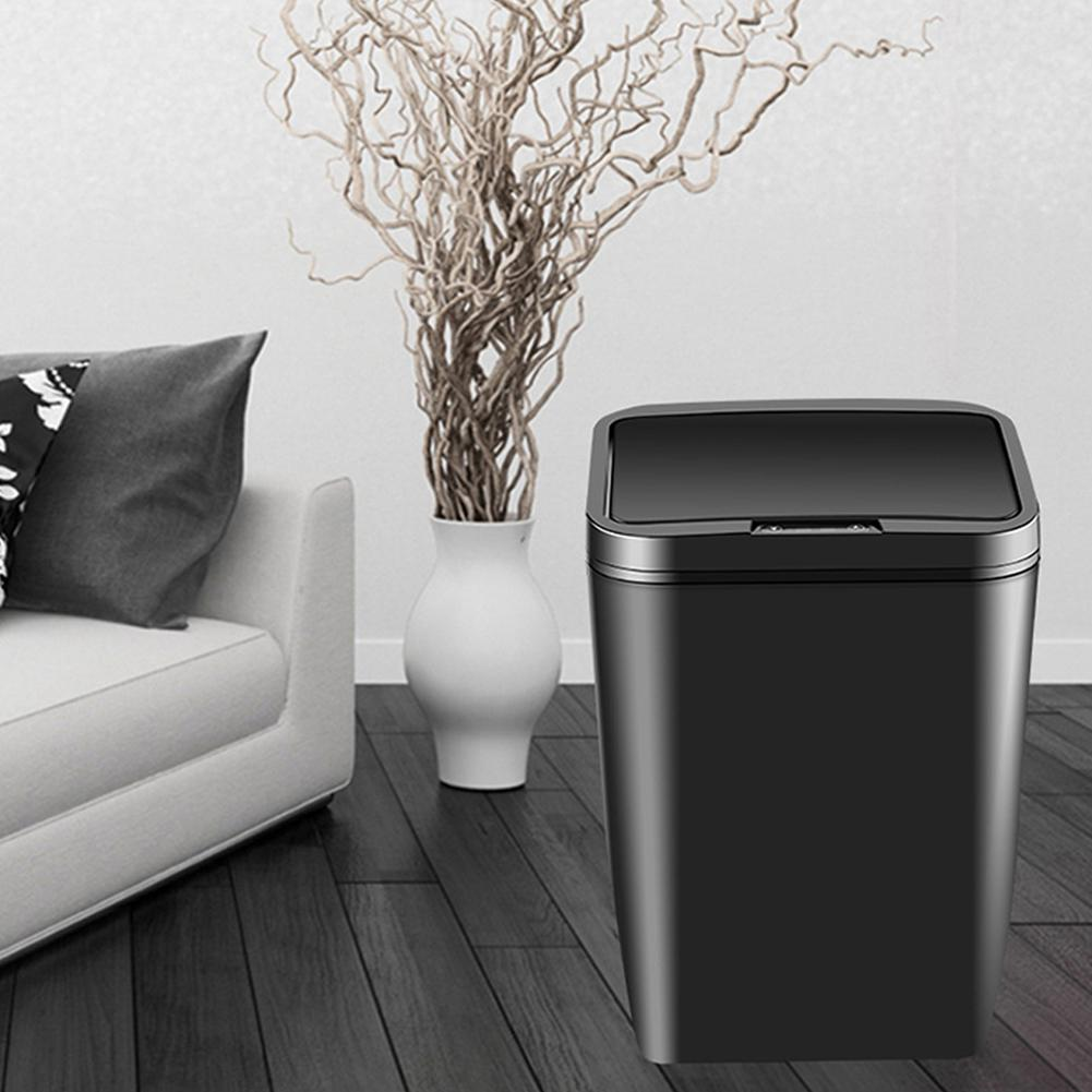 12L Automatic Touchless Intelligent Induction Motion Sensor Kitchen Trash Can Wide Opening Sensor Eco friendly Waste Garbage Bin|Waste Bins| |  - title=