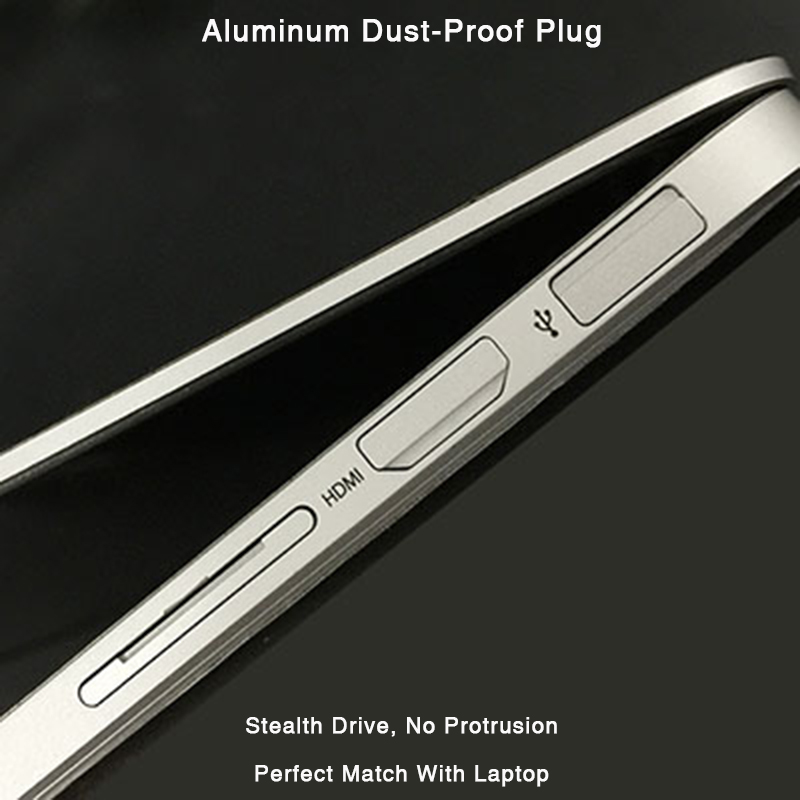 BaseQi Aluminum Completely Hidden Dust-Proof Plug For MacBook Pro Retina 13/15-inch