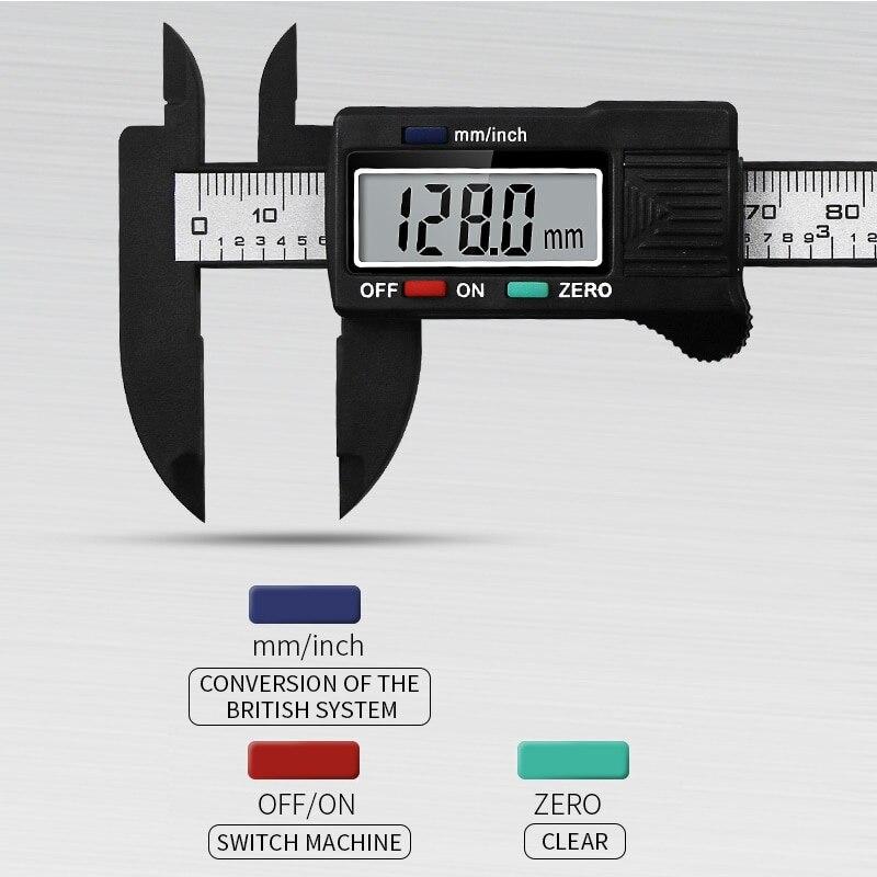 Электронный цифровой штангенциркуль с нониусом из нержавеющей преобразования внутренней и внешней Диаметр измерительный инструмент с ЖК-...