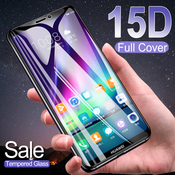 15D Protection Glass on the For Huawei Y5 Y6 Y7 Y9 Prime 2018 2019 Y5 Lite Y9S Tempered Screen Protector Safety Glass Film Case y7 2020 screen protector glass for huawei y9s stk l21 stk lx3 stk l22 phones tempered glass huawei y7 2020 protective film y9s