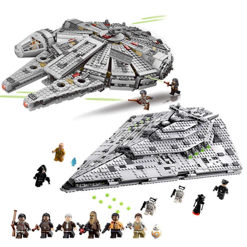 NOVA 1381Pcs OLEKU Milênio Compatível legoinglys Star Wars Set Models & Building Blocks Brinquedos para Crianças Tijolos Starwars
