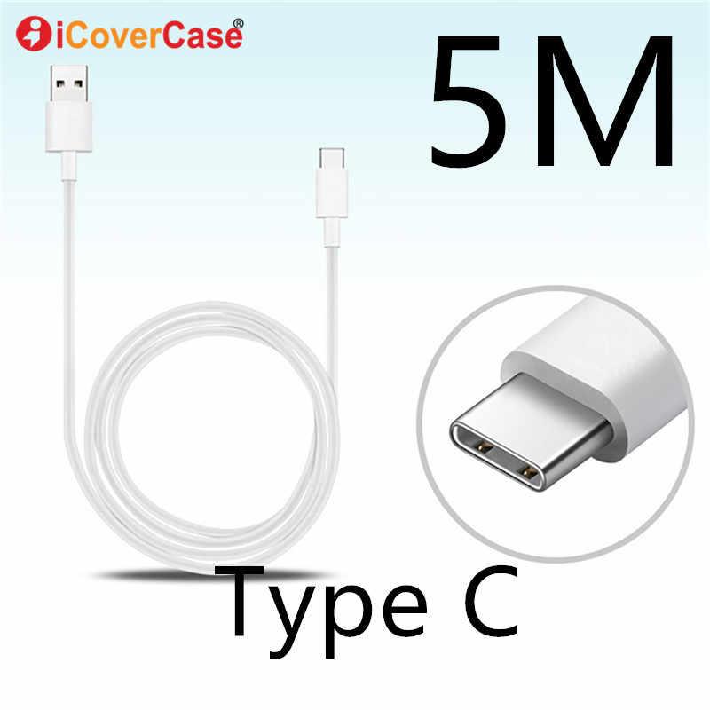 5 متر نوع C كابل لسامسونج غالاكسي A20S A30S حالة USB C شاحن الهاتف المحمول نوع-C شحن ل غالاكسي A50S A70S 5 متر