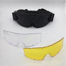 Тактические CS боевое зеркало Альфа CS армейский вентилятор пуленепробиваемые тактические очки взрывозащищенные противоударные очки мотоциклетные очки