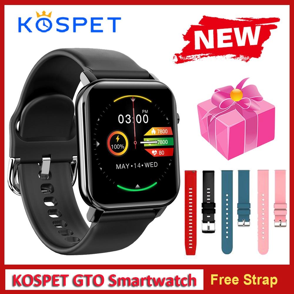 2020 KOSPET GTO Smart Uhr Männer Fitness Tracker Herz Rate 1.4 Bildschirm IP68 Wasserdichte Bluetooth Smartwatch Uhr Sport Uhr