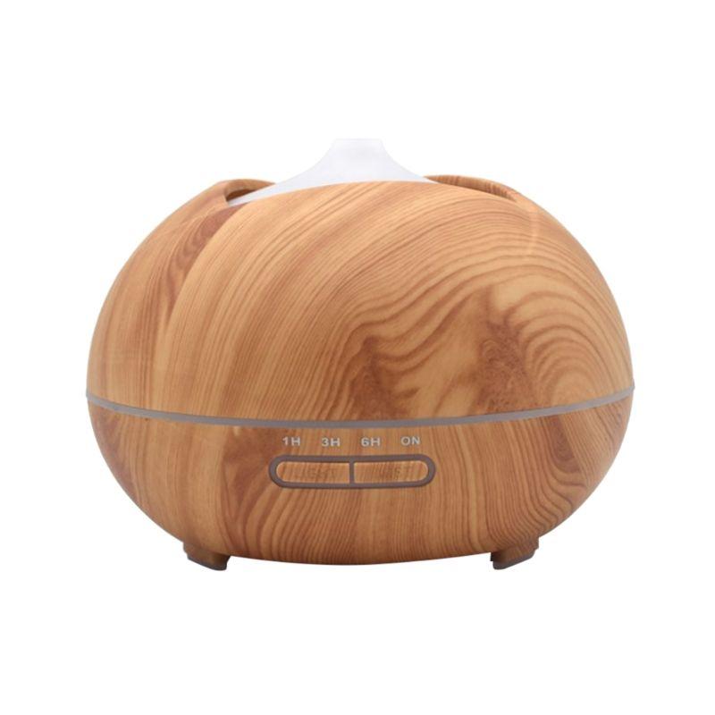 300ml Fragrance Essential Oil Diffuser Wood Grain Air Humidifier for Home Office U2JD