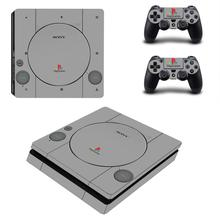 PS1 Style PS4 Slim Stickers Play station 4 Skin Sticker Decals Cover For PlayStation 4 PS4 Slim Console and Controller Skin