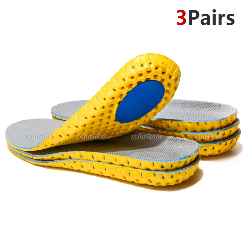 Elasticity Shock Absorption Non-slip Breathable Sport Insoles Men And Womens Unisex Shoes Pad Comfortable Shoe Cushions