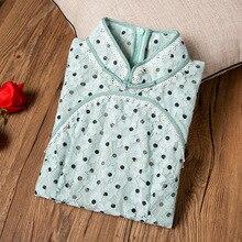 Cheongsam nian qing kuan/кружевное платье в горошек для девочек, в стиле ретро, повседневный стиль, модифицированное осеннее платье нового стиля, 90505