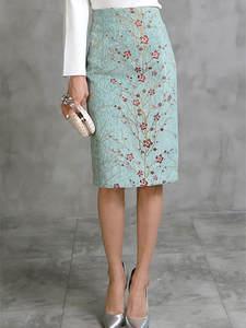 Winter Skirts Pencil-S-2xl Knee-Length Long High-Waist Elegant Autumn Cotton New-Fashion