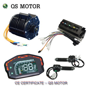 QS MOTOR 3000W Mid drive motor power train kits 72V 100kph V2 version for electric motorbike or dirty bike