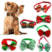Świąteczna obroża dla kota psa koty świąteczne muszka dla psa regulowany pasek na szyi akcesoria do pielęgnacji kota kot szczeniak naszyjnik tanie tanio CN (pochodzenie) Krawat i muszka Poliester Cat Neck Tie Pet Grooming Accessories