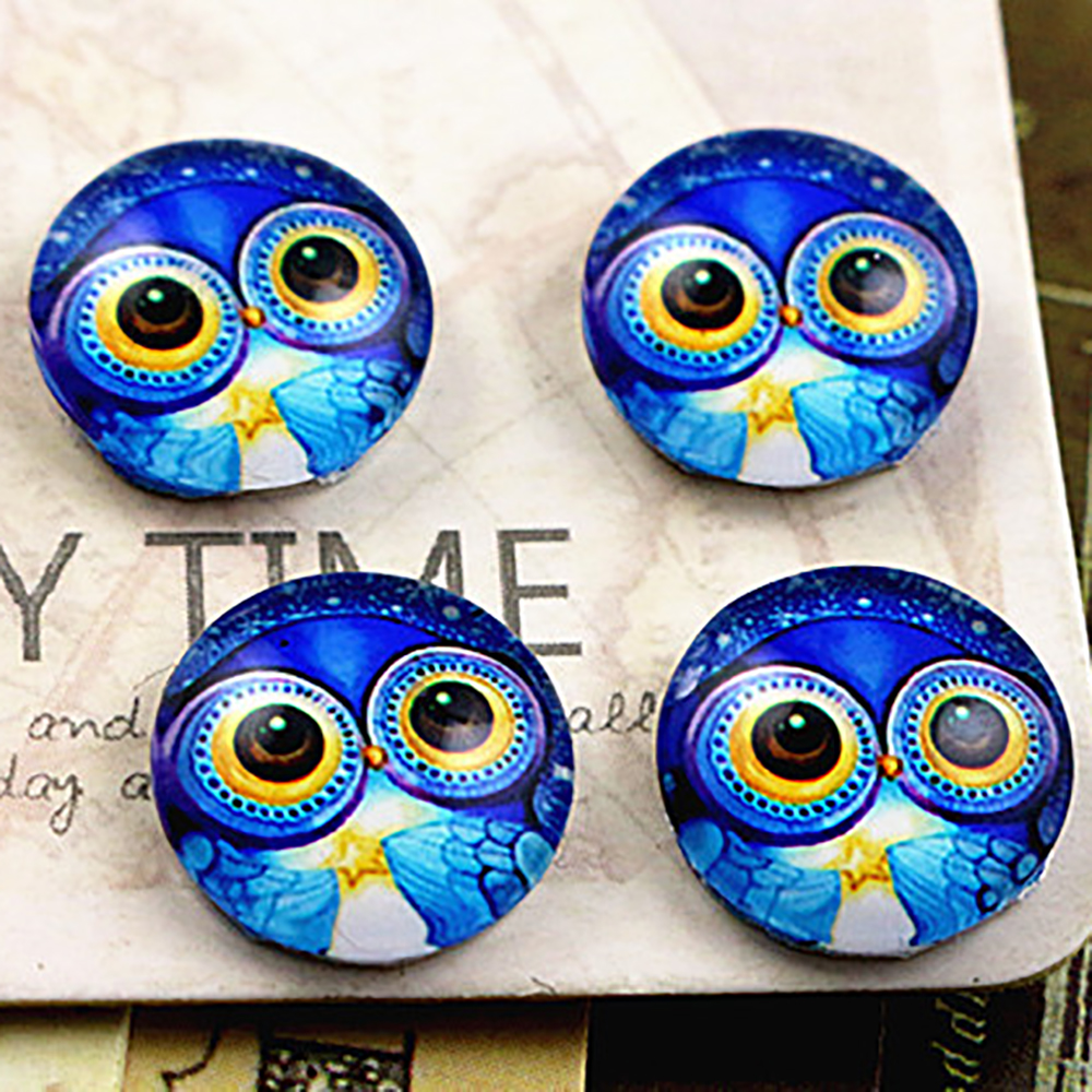 Hot Sale 20pcs 12mm Handmade Photo Glass Cabochons   E3-59