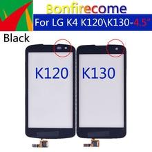 10Pcs \ Veel Voor Lg K4 K120 K121 K120E K130 K130E Touch Screen Digitizer Lcd Display Voor Glas Panel Sensor vervanging