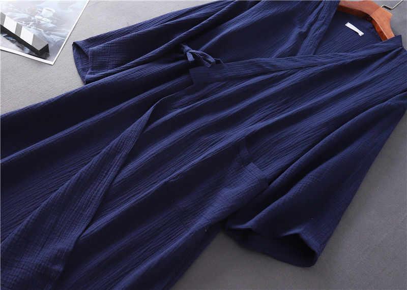 女性浴衣カップル綿100% レースアップ着物vネック長袖女性パジャマ春夏シックな女性ホームウェア