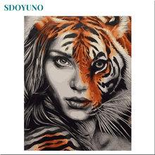 Sdoyuno 60x75 см diy картина маслом по номерам рисунок на холсте