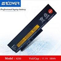 SKOWER 5200mah 44+ 45N1023 45N1024 Battery For Lenovo ThinkPad X220 X230 X220i X230i