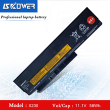 X230 Laptop Battery For Lenovo ThinkPad X220 X230 X220i X230i 45N1023 45N1024 5200mAh 44+ (Free shipping) 11 1v 94wh 9cell x230 original new laptop battery for lenovo thinkpad x220i x220 x230i 0a36307 42t4940 0a36281 45n1022 45n1023