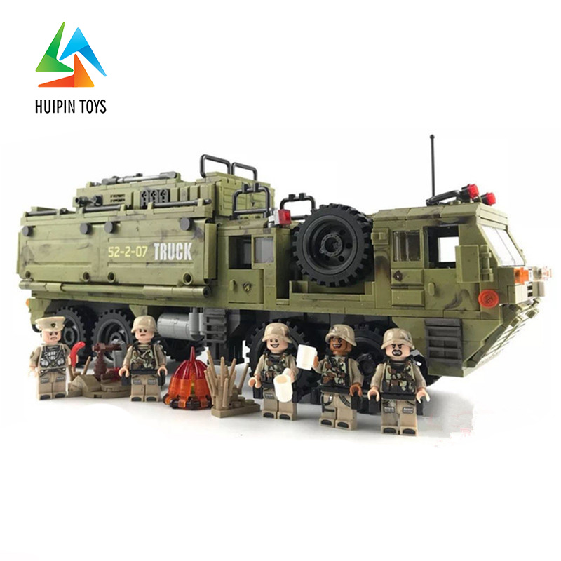 1377Pcs XINGBAO Building Blocks Toys легоe military 06014 Cross The Battlefield Series Bricks Truck Model Gift for Children 4PX