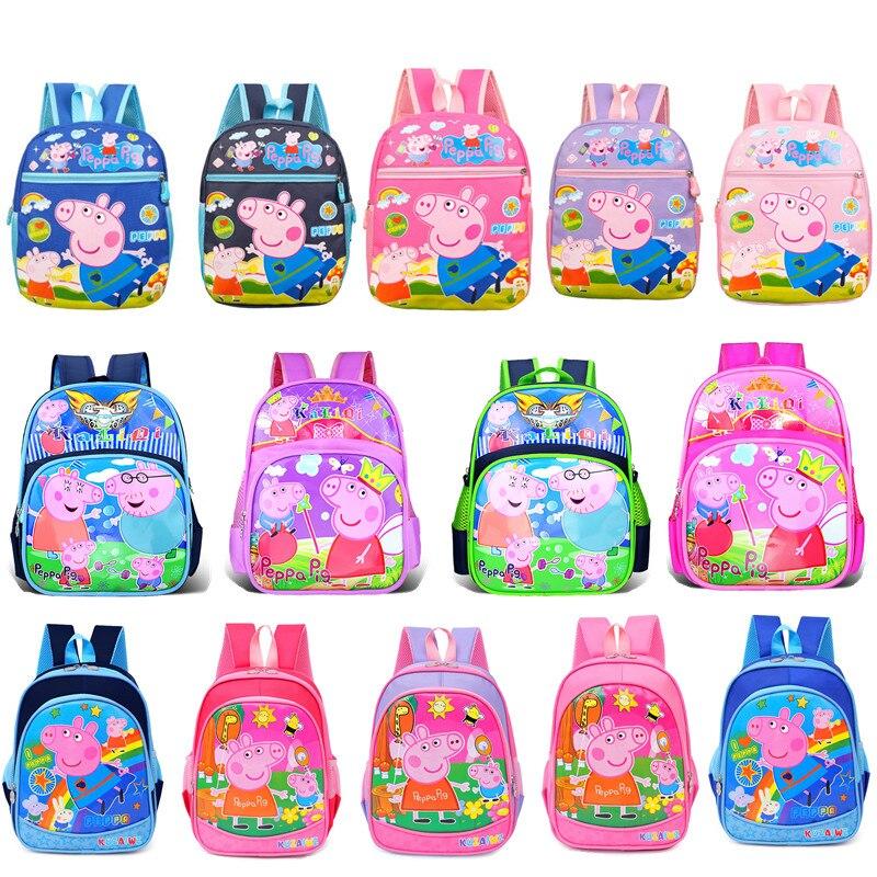 새로운 펫빠 돼지 조지 핑크 돼지 플러시 장난감 인형 kawaii 유치원 schoolbag 배낭 지갑 학교 휴대 전화 가방 선물
