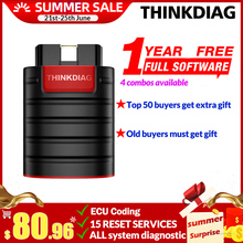 Thinkdiag thinkcar diagzone 16 1年無料フルシステムOBD2リセット診断ツールアクティブテストecuコードpk歳ブーツthinkdiag