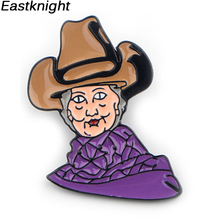 K309 Hillary Clinton Cartoon Metal Enamel Pins and Brooches for Women Men Lapel Pin Backpack Bags Badge Gifts