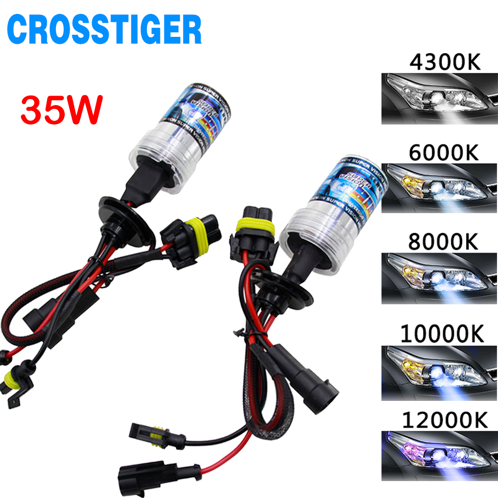 Xenon 35W DC Slim Ballast Kit HID Xenon H7 Headlight Bulb H1 H3 H11 H7 Xenon Hid Kit 4300k 6000k Replace Halogen Lamp Auto Ligh