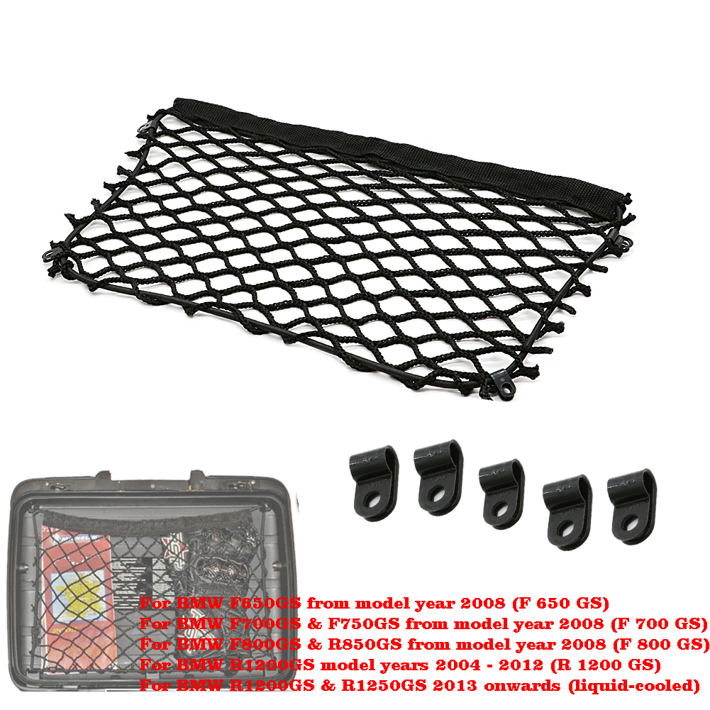 Sweet-Tempered Motorcycle Cargo Storage Net Top Box Side Case W/ Clip For Bmw R1200gs / R1250gs / R700gs / R850gs Factory Direct Selling Price