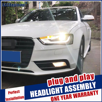 New head lamp Car Styling for A4 B9 Headlights High Configuration LED DRL Lens Double Beam HID KIT bi xenon lens 2013-2016