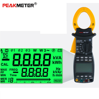 PEAKMETER MS2203 True RMS Digital Clamp Meter Professional 3 Phase Auto Multimeter Power Factor 0.1A~1000A AC Current Meter