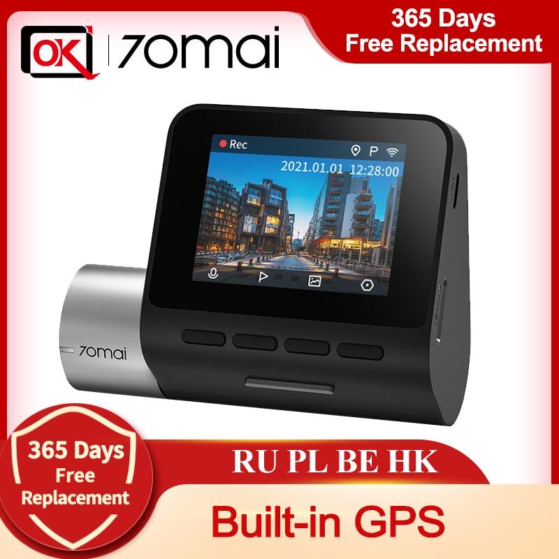 Atualização 70mai traço cam pro plus + 70mai a500s construído em coordenadas de velocidade gps adas carro dvr com câmera traseira 24h monitor de estacionamento|DVR/Câmera Dash|   -