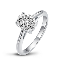 QYI 2 Ct Ring for Women 925 Silver Halo Rings Engagement Jewelry Sona Diamond Wedding Finger Flower Rings Gift