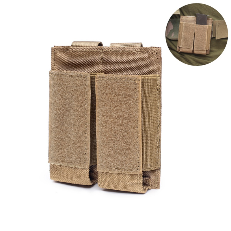 Tactical Hunting Pistol Magazine Pouch Military Double Flashlight Sheath Airsoft Ammo Pouch Paintball Game