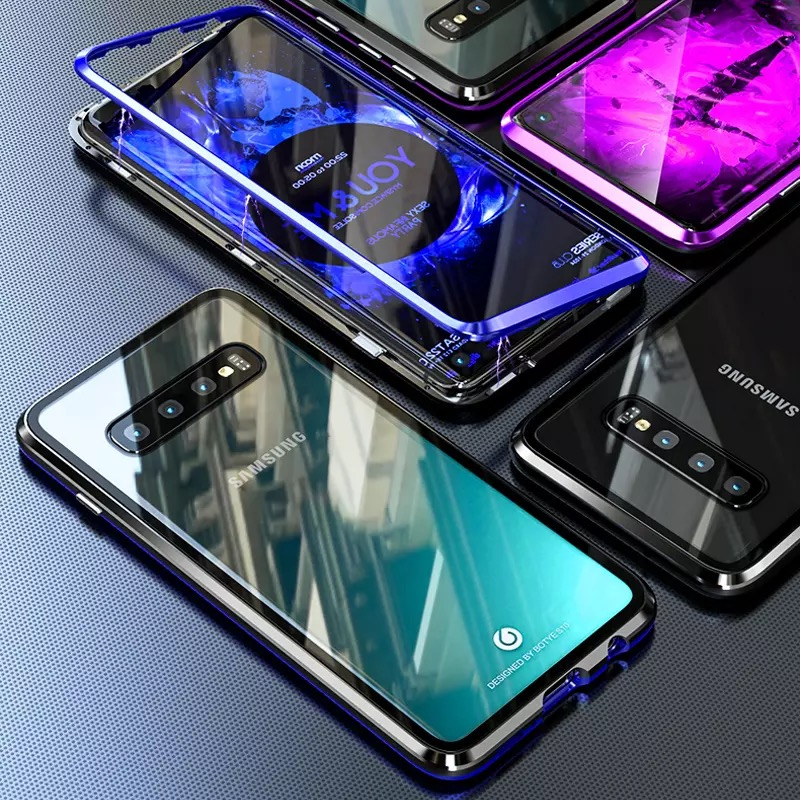 <font><b>360</b></font> DoubleFace Full Protection Magnetic <font><b>Case</b></font> For <font><b>Samsung</b></font> Note 10 PLUS <font><b>S10</b></font> Tempered Glass <font><b>Case</b></font> Cover For <font><b>Galaxy</b></font> A40 A50 A70 Coque image