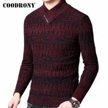 COODRONY セーター男性秋冬厚手暖かいウールプルオーバー男性ストリートファッションニットカシミヤタートルネックプルオム 91098