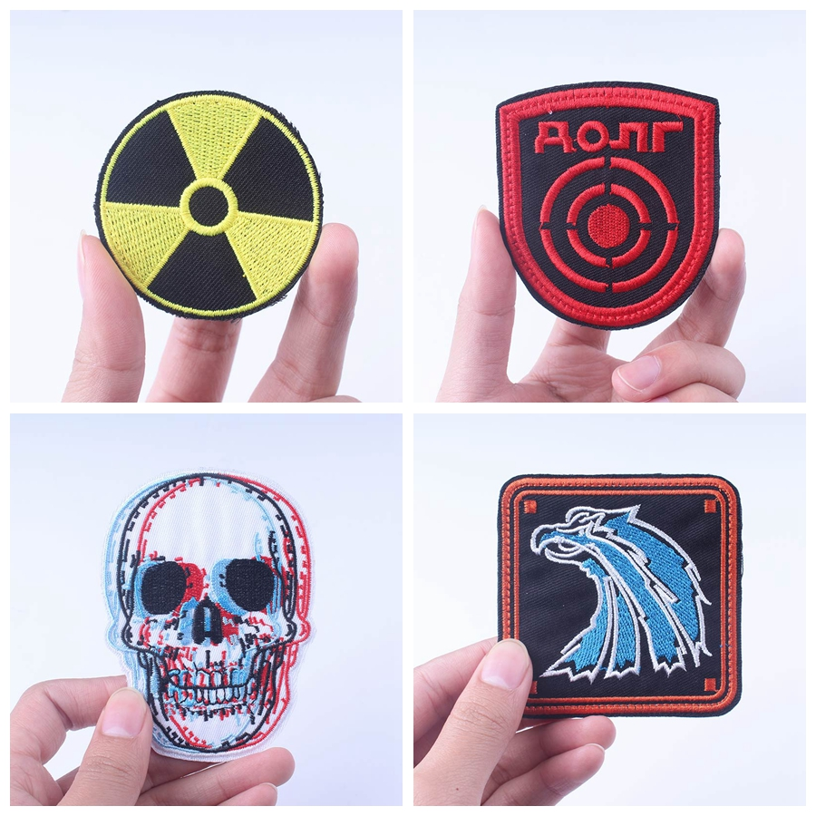 Stalker-Patch Badges Radiation Capsule Corp Letter Punk Stripe Iron-On for Clothing Nuclear
