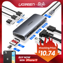 Ugreen USB HUB C HUB na Multi USB 3.0 adapter hdmi Dock dla MacBook akcesoria pro USB-C typ C 3.1 Splitter 3 Port USB C HUB(China)