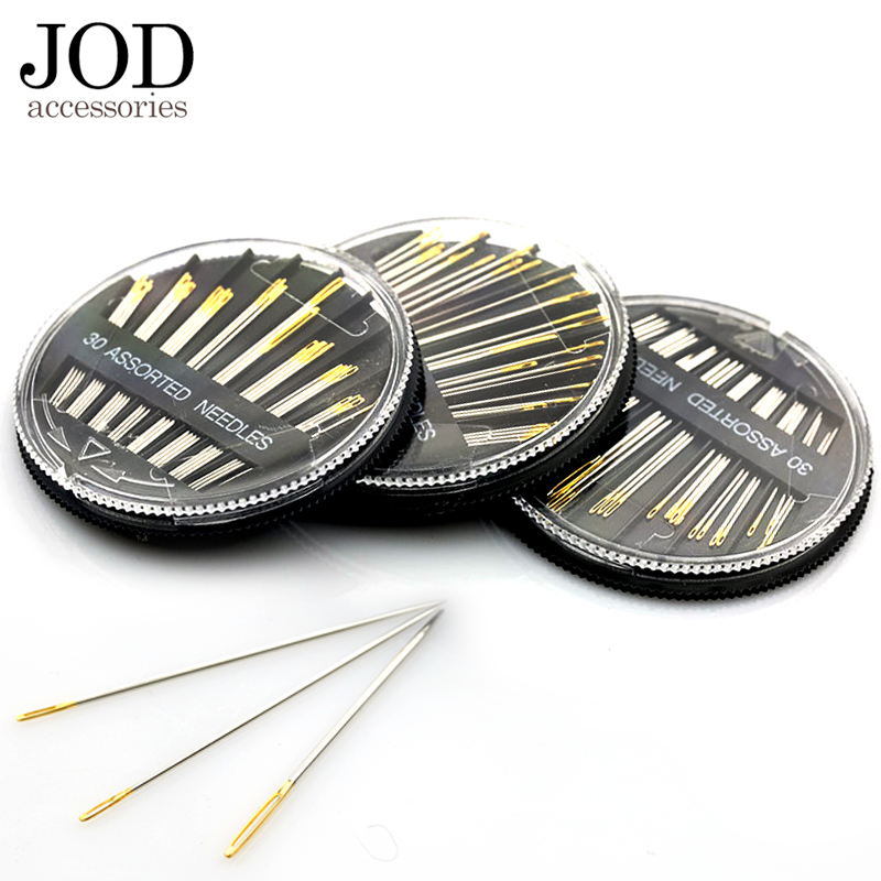 30PCS Assorted Hand Sewing Needles Embroidery Mending Craft Quilt Case JOD