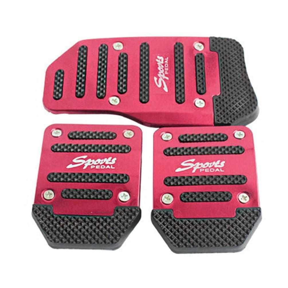 Opp сумка, алюминиевая ручная коробка передач, автомобильная Нескользящая педаль, ручная Автомобильная Тормозная муфта, акселератор, сплав, противоскользящая ножная педаль - Цвет: Red