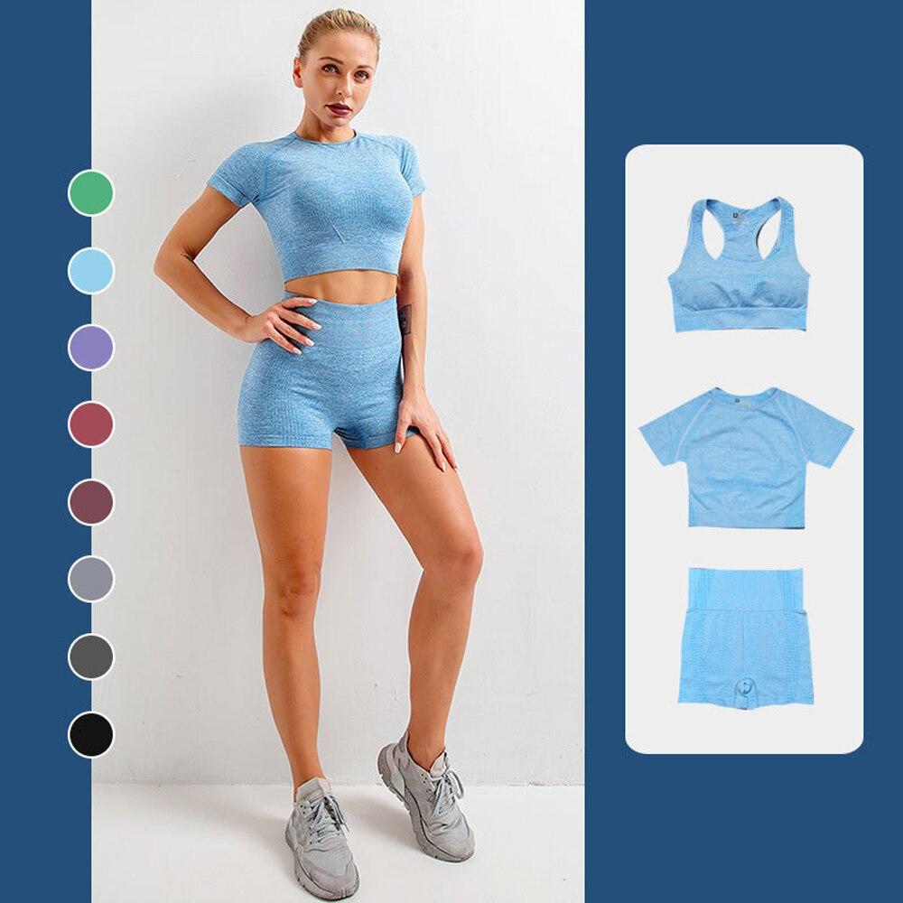 Бесшовный Набор для йоги женская спортивная одежда спортивный