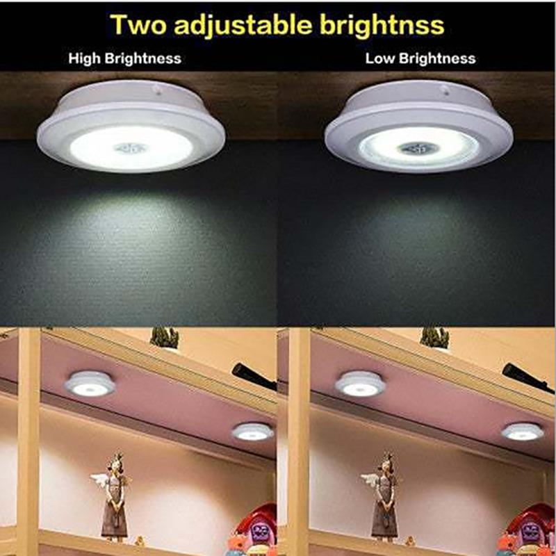3W Super Heldere Cob Onder Kast Licht Led Draadloze Afstandsbediening Dimbare Garderobe Night Lamp Home Slaapkamer Kast Keuken 2