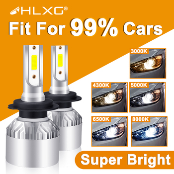Hlxg H4 LED H7 H11 H8 HB4 H1 H3 9005 HB3 Auto żarówki reflektorów samochodowych motocykl 8000LM akcesoria samochodowe 6500K 4300K 8000K światła przeciwmgielne tanie i dobre opinie CN (pochodzenie) For general cars 12 v 6500 k universal car models L 36W H 36W L 36W H 36W source 12v automotive led DC 9-12V 24V car bulbs available Diode lamp for auto