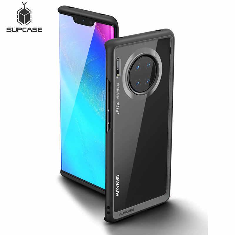 SUPCASE için Huawei Mate 30 Pro (2019 sürümü) UB stil anti-vurmak Premium hibrid koruyucu TPU tampon PC şeffaf arka kapak