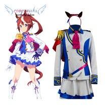Anime uma musume bonito derby tokai teio cosplay carnaval traje halloween natal traje