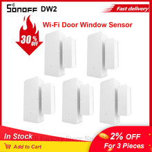 Wholesale SONOFF DW2 WiFi Door Window Sensor Wireless Sensor Detector eWeLink App Notification Alerts Smart Home Security