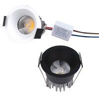110V 220V Mini LED COB spot light lâmpada do teto pode ser escurecido 3W mini LEVOU downlight branco  preto  levou Recesso Lâmpada Do Teto|Luzes embutidas de LED| |  -