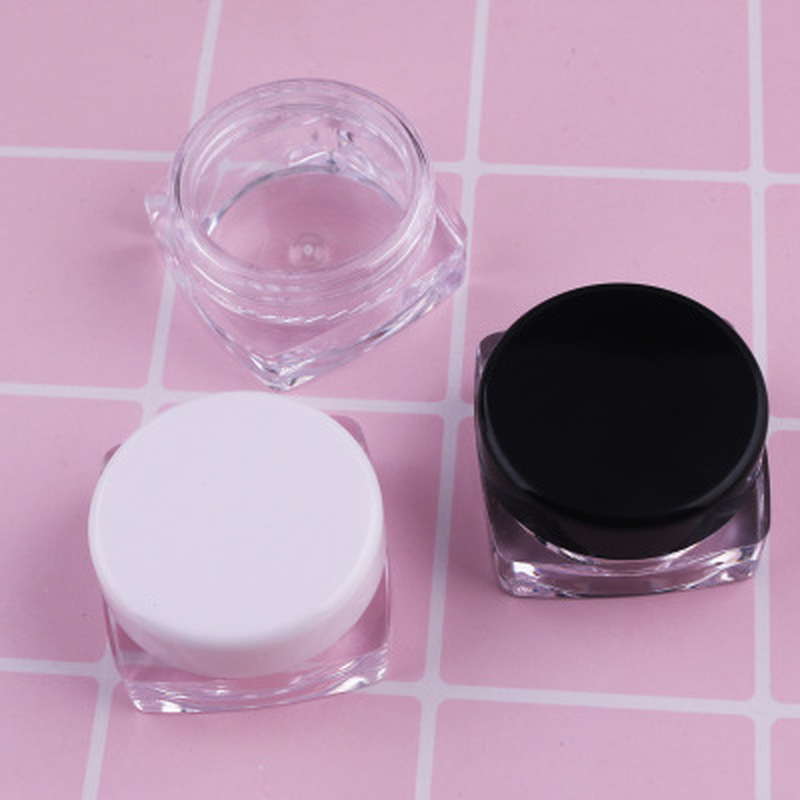 10Pcs 5ml Mini Cosmetic Portable Empty Cream Jar Pot Eyeshadow Makeup Cosmetic Container Plastic Bottle Black Beauty Health